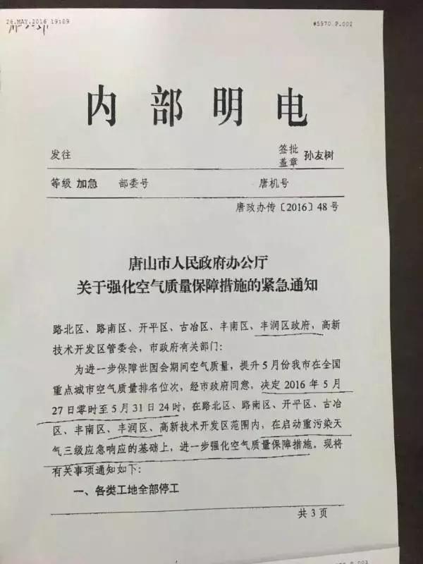 """唐山地区进一步限产!轧钢企业停产?""""/"""