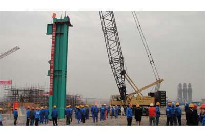 常州中天钢铁转炉主厂房钢结构吊装